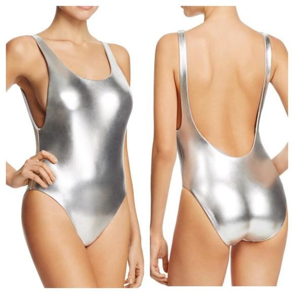229ec2fca6 DOLCE VITA Metallic Silver Reversible Swimsuit